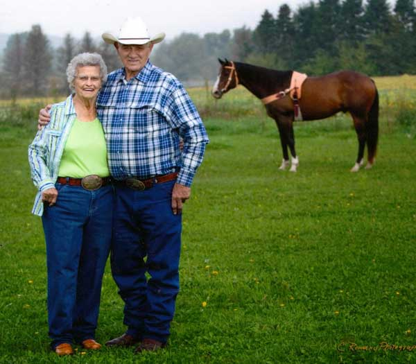 Mom and Dad in Pasture