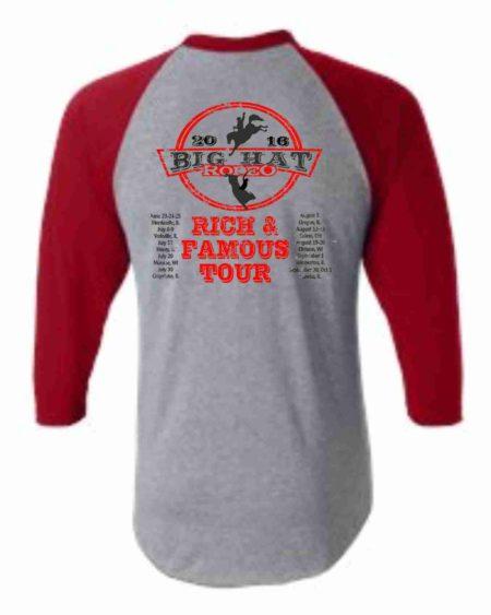 Rich & Famous Tour Baseball T-shirt